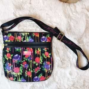 Betsy Johnson | Bleeding Neon Rose Nylon Crossbody